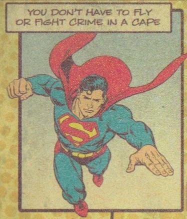 Superman close-up
