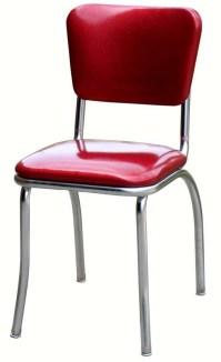 Red Diner Chair | 1950's Red Vinyl Kitchen Chair | Diner ...