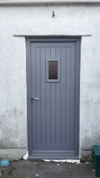 Grey back door - Bartlett Joinery And Carpentry