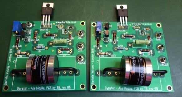 4P1L gyrator boards