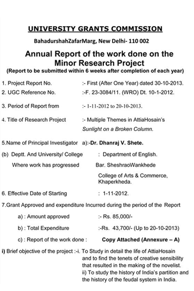 Contact Us - research project report