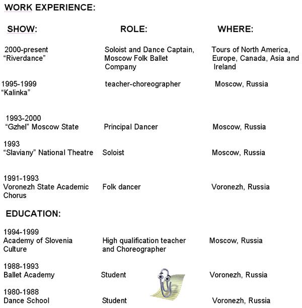 dancer free sample resume professional dance resume template dance
