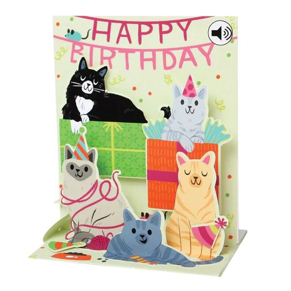 Singing Cats Happy Birthday Card Bas Bleu UQ3512