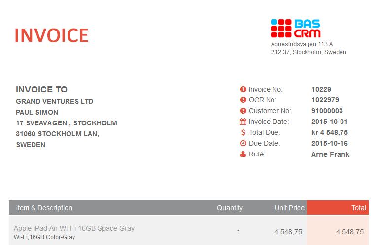 Online Invoicing Software Online Billing Software
