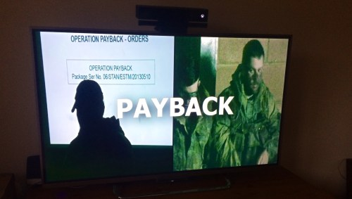 DVD on 42 inch tV Tier 1 Military Simulation   Operation PAYBACK   Download Now