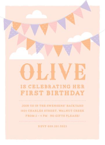 First Birthday Invitations 40 Off Super Cute Designs - Basic Invite