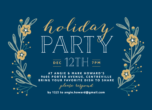 Christmas Party Invitations Match Your Color  Style Free! - Basic