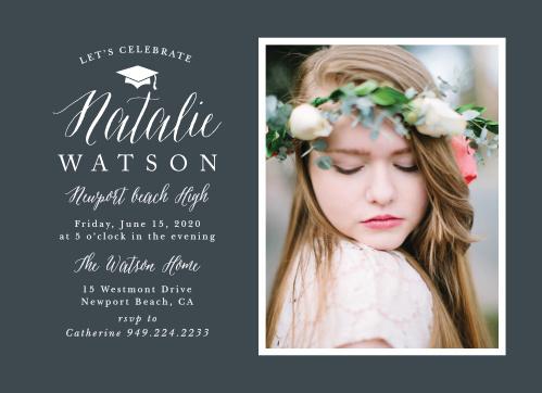 2018 Graduation Party Invitations Super Cute  Easy To Design - graduation photo invitations