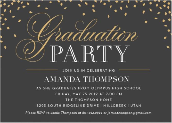 2018 Graduation Announcements  Invitations For High School and College - invitations graduation