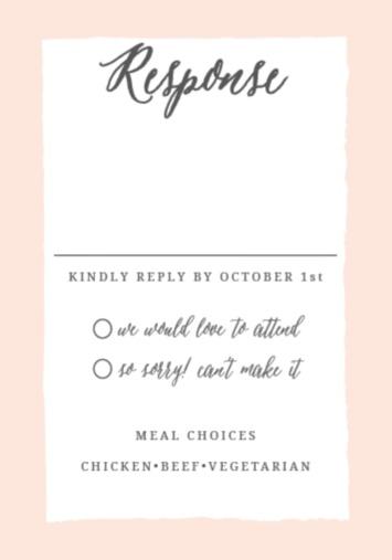 rsvp cards for wedding - Onwebioinnovate - wedding response postcards