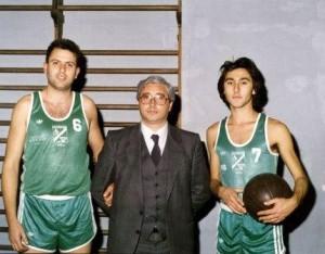 Francesco Fidone, il Presidente Giuseppe Carestia e Nunzio Liuzzo a.s. 1988-1989
