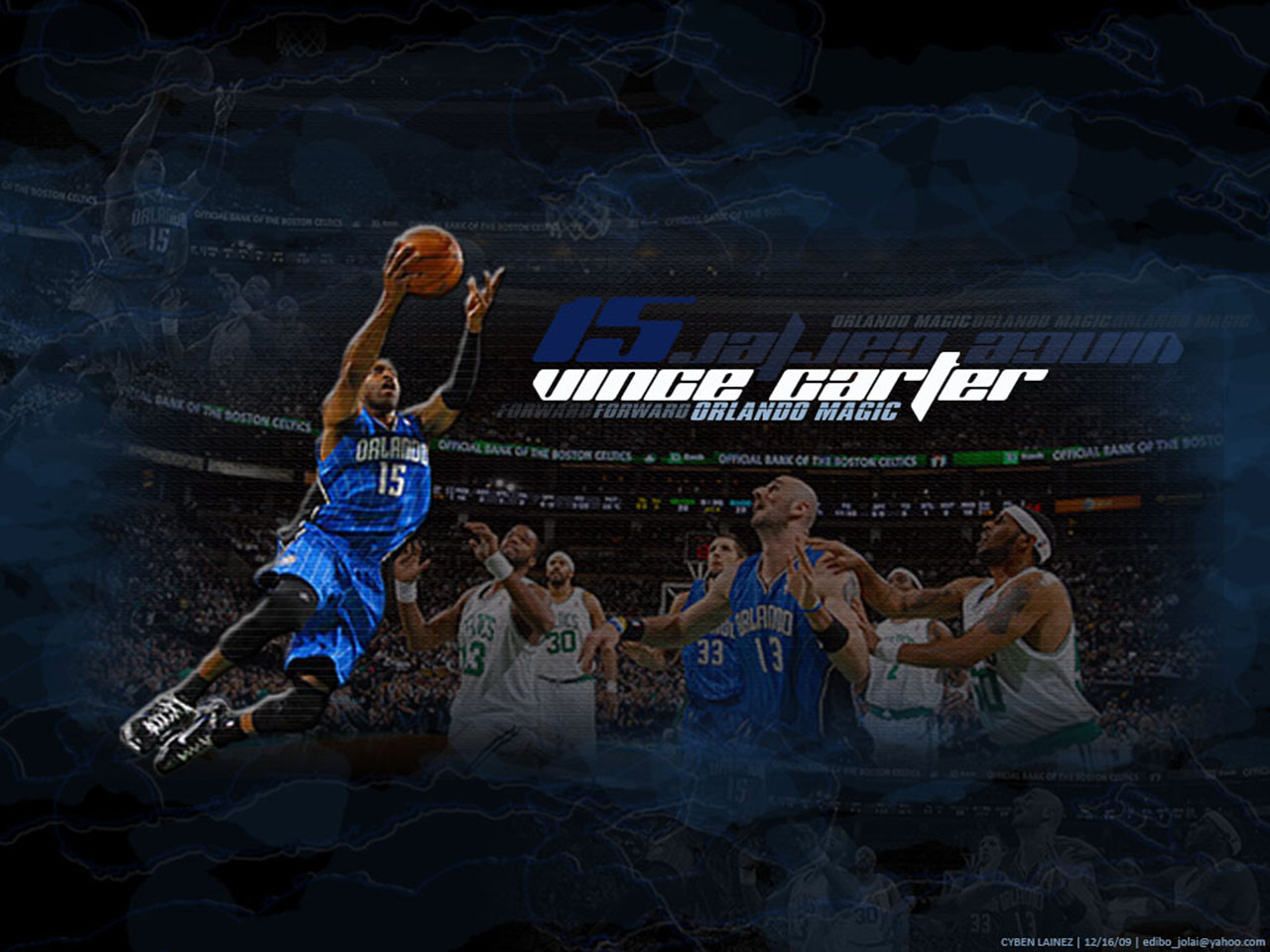 Okc Wallpaper Iphone Vince Carter Magic Layup Wallpaper Basketball Wallpapers