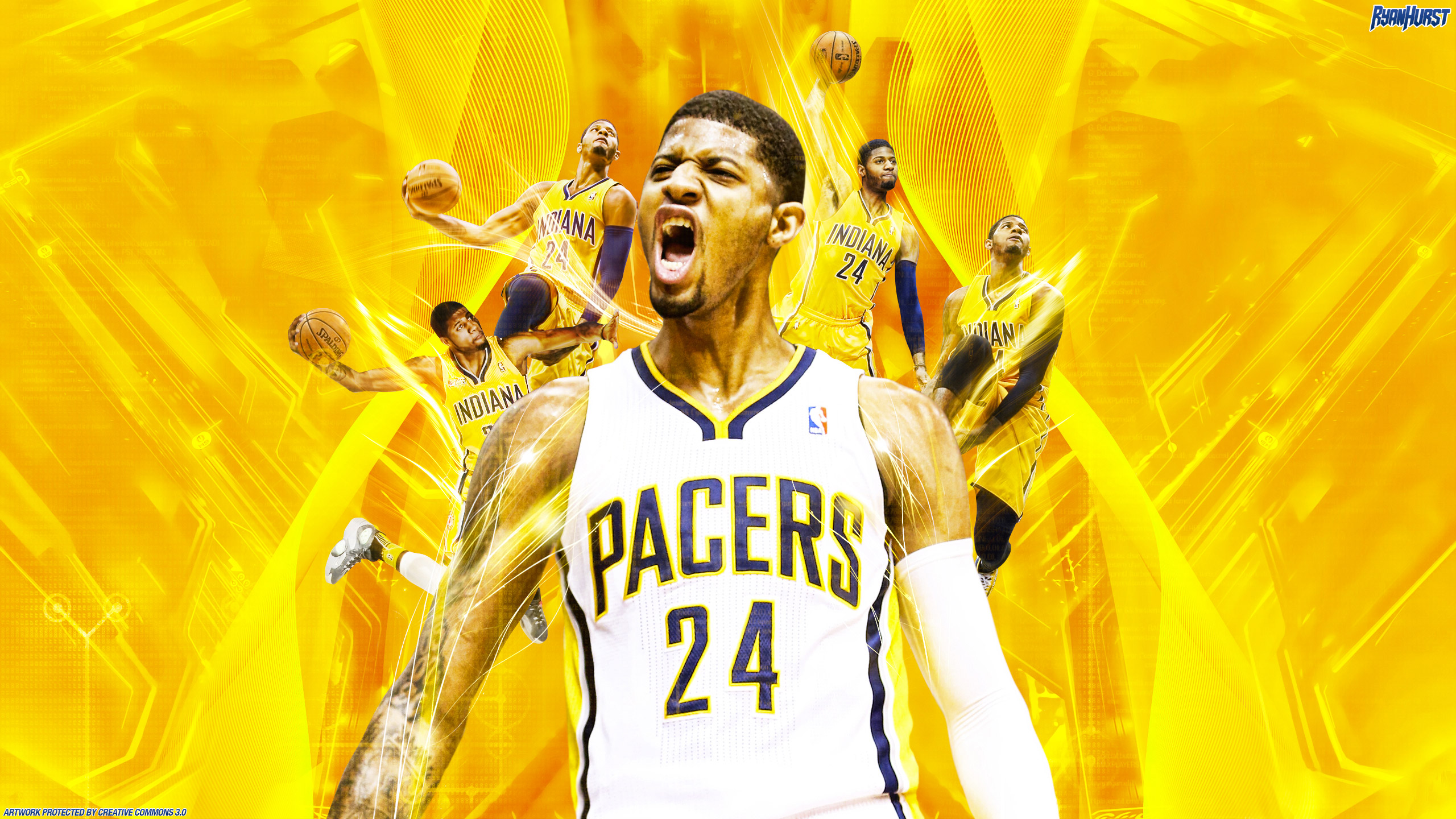 Kyrie Irving Wallpaper 2013 Hd Paul George Indiana Pacers 2560 215 1440 Wallpaper