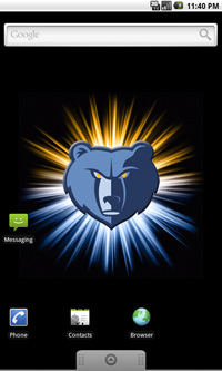 Animated Nba Wallpapers Memphis Grizzlies Logo Live Android Wallpaper
