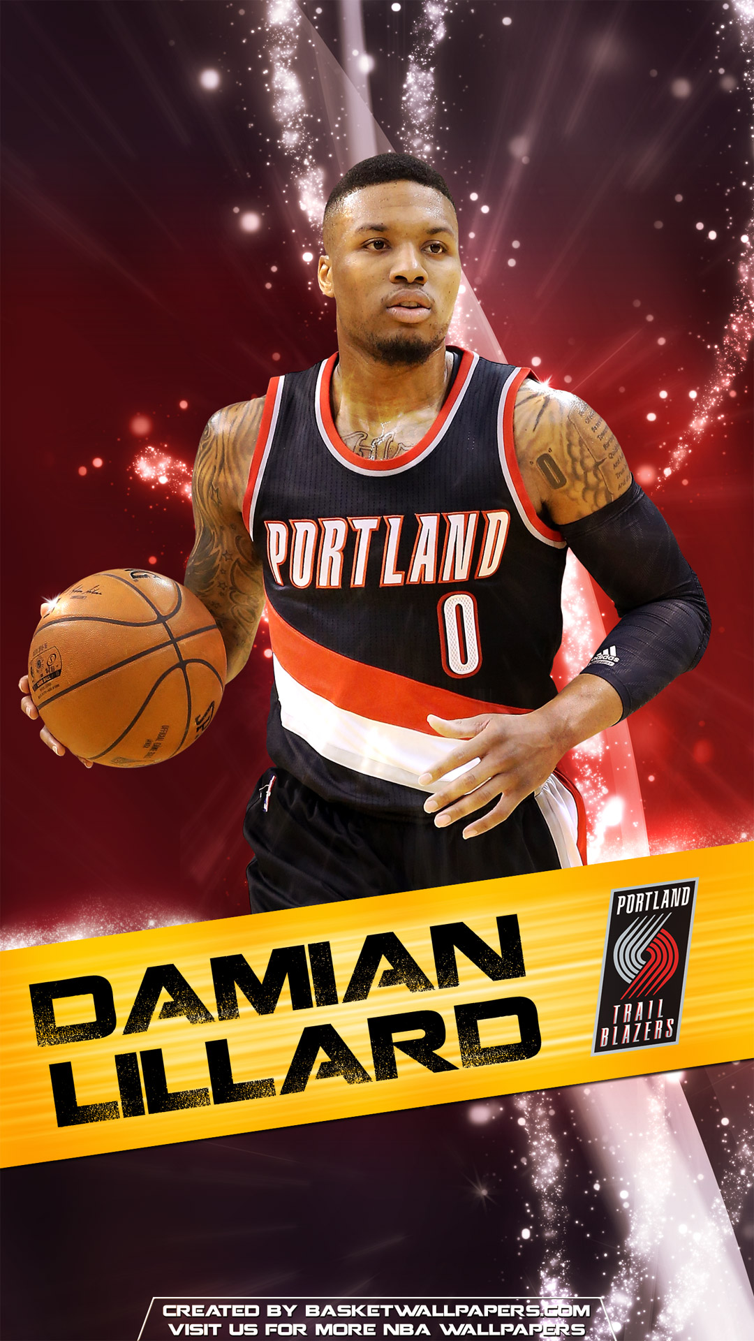 Okc Wallpaper Iphone Damian Lillard Portland Trail Blazers 2016 Mobile