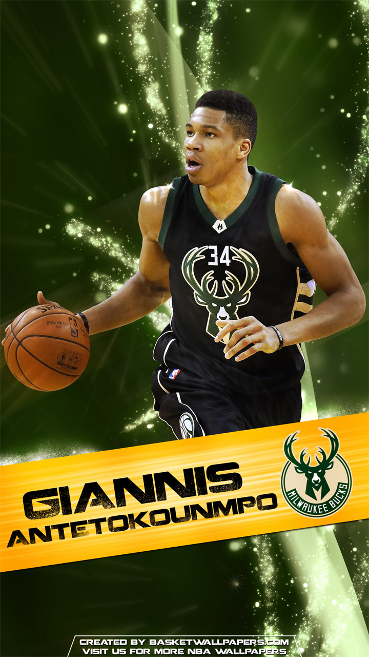 Los Angeles Wallpaper Iphone 6 Plus Giannis Antetokounmpo Milwaukee Bucks 2016 Mobile