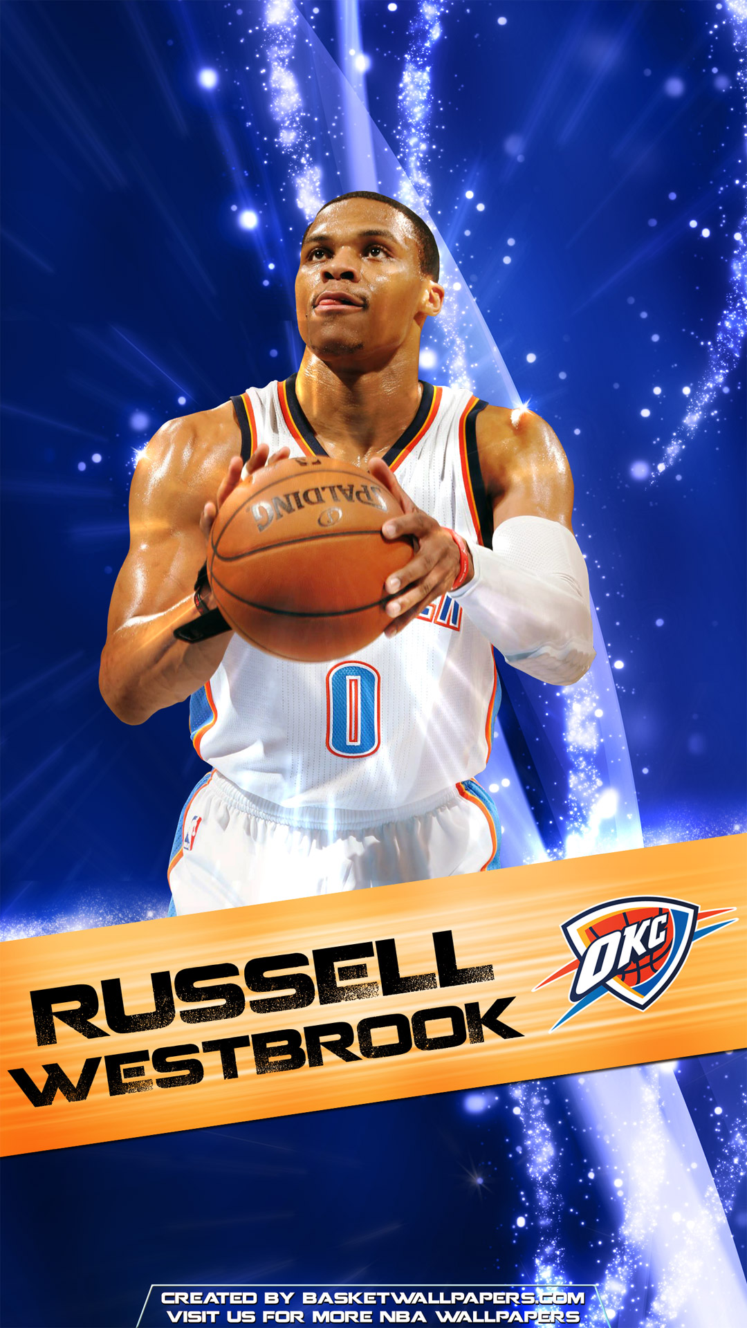 Los Angeles Wallpaper Iphone 6 Plus Russell Westbrook Okc Thunder 2016 Mobile Wallpaper