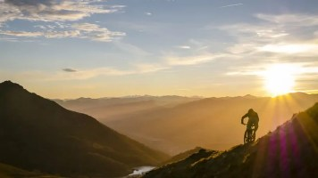 Basque Mountain Biking at Sunset and Sunrise
