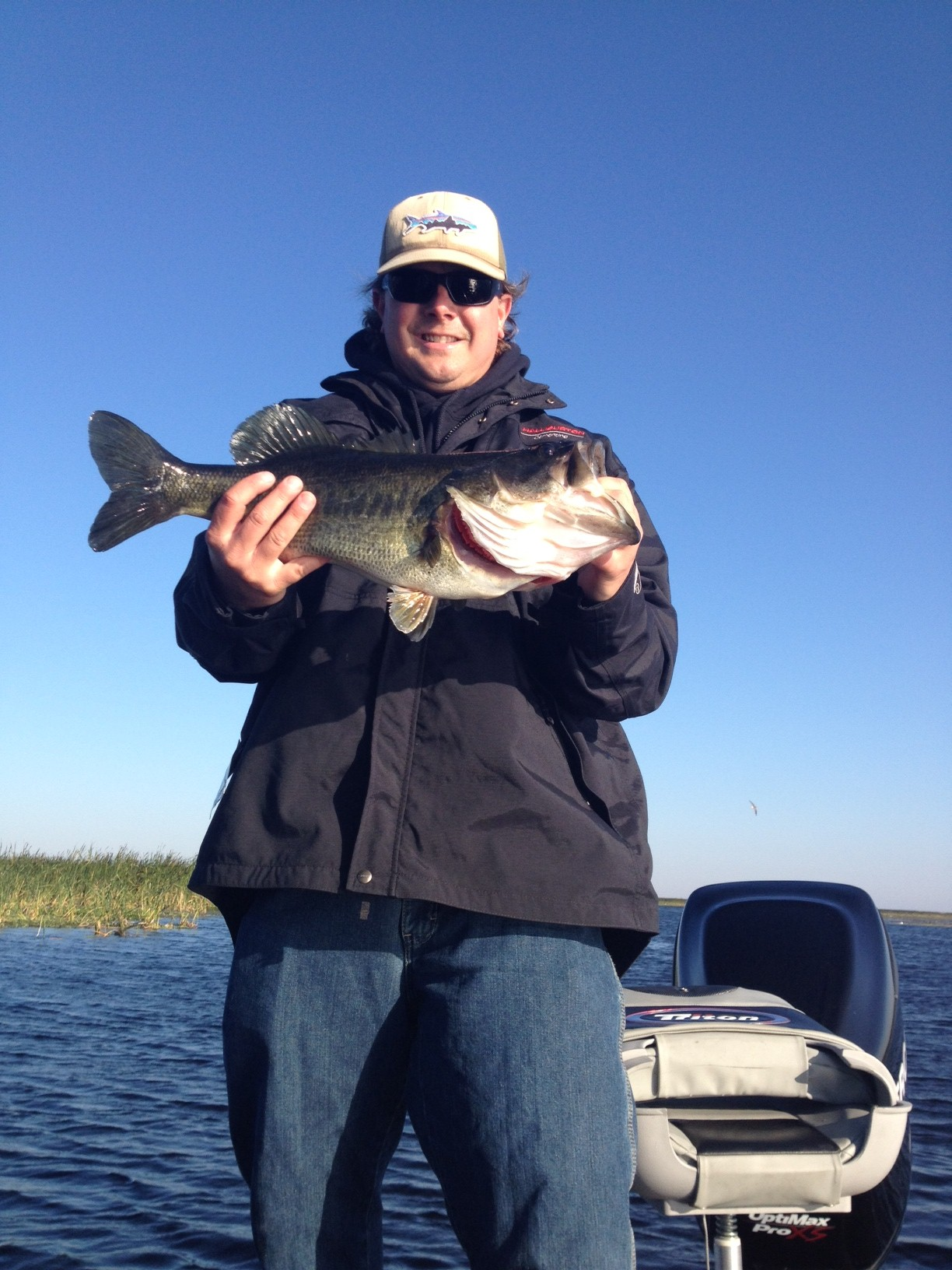 Fly fishing on lake o central florida bass guides for Bass fly fishing
