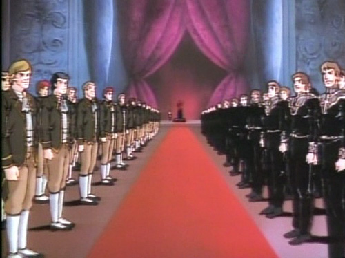 Reinhard von Lohengramm enters the Royal Chamber