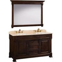 """60"""" Andover Double Sink Vanity - Dark Cherry - Bathgems.com"""