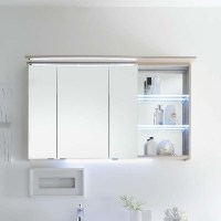 Contea Bathroom Mirror Cabinet 3 Double-Mirrored Doors ...