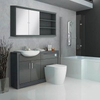 Hacienda Fitted Furniture Pack Grey Buy Online at Bathroom ...