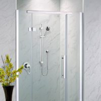Neptune Grey Marble Shower Panels from The Bathroom Marquee