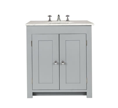 Bathroom vanity cabinet with undermount sink