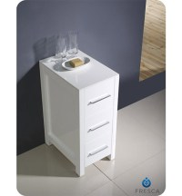"Fresca Torino 12"" Transitional Bathroom Linen Side Cabinet ..."