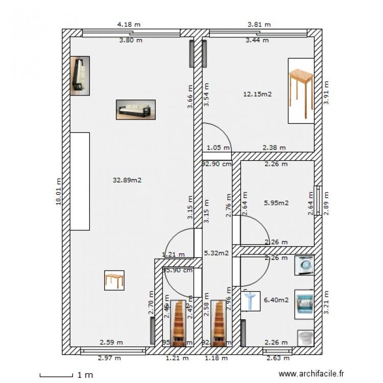 plan de maison 8m de façade
