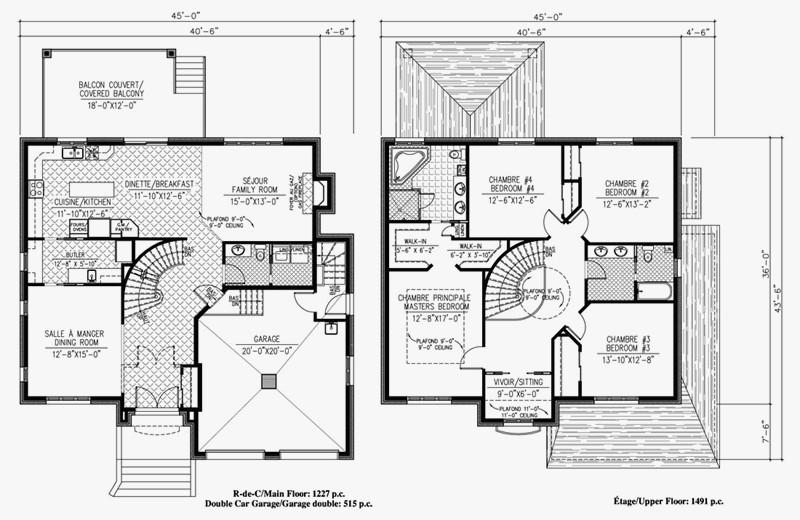Charmant ... Plan De Maison Duplex 4 Chambres Gratuit   Idées De Travaux ...