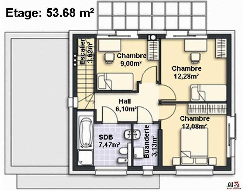 ... Plan De Maison Duplex 7 Chambres   Idées De Travaux ...