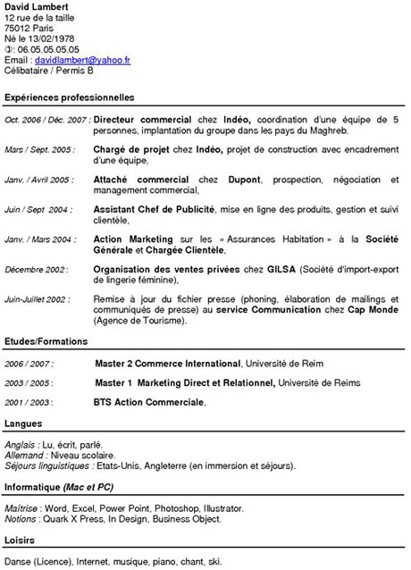 comment realiser un cv de manutentionnaire