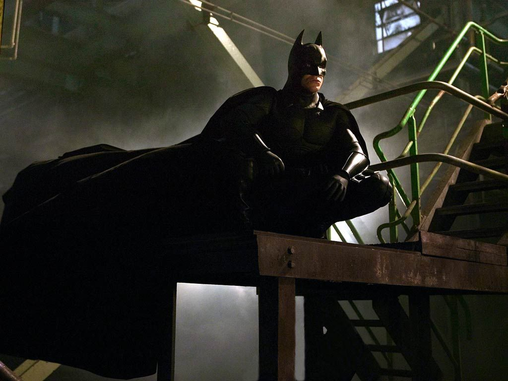 Batman Why Do We Fall Wallpaper Batman Sitting On Stairs Wallpaper 1024 215 768 Batman
