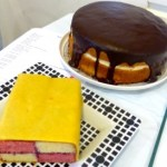 A Battenburg and a Boston Cream Pie