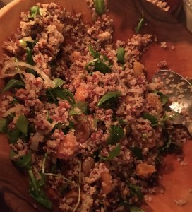 Quinoa and red rice salad