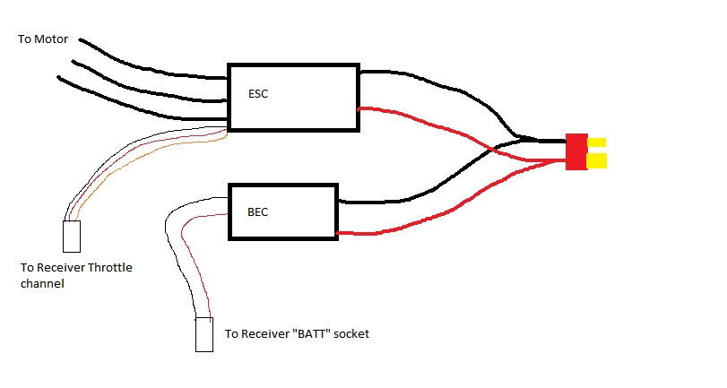 brushless esc circuit diagram