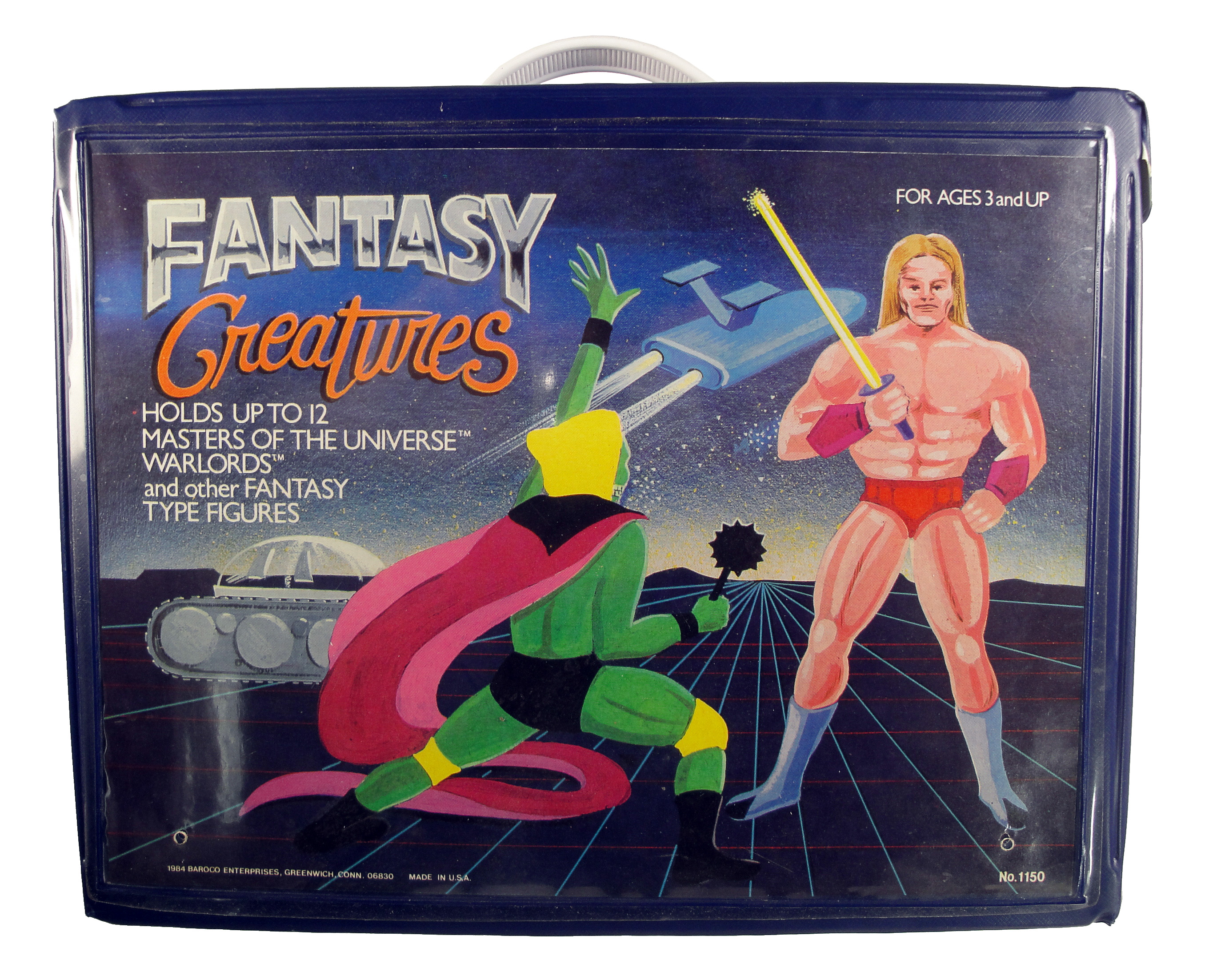 1984 Fantasy Creatures Action Figure Carrying Case