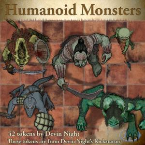 Devin Night's Token Pack #36: Humanoid Monsters
