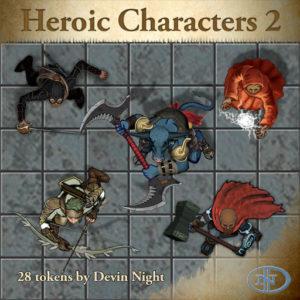 Devin Night's Token Pack #46: Heroic Characters 2