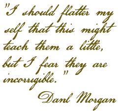 Daniel Morgan to Nathanael Greene
