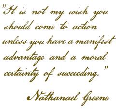 Nathanael Greene letter to Daniel Morgan