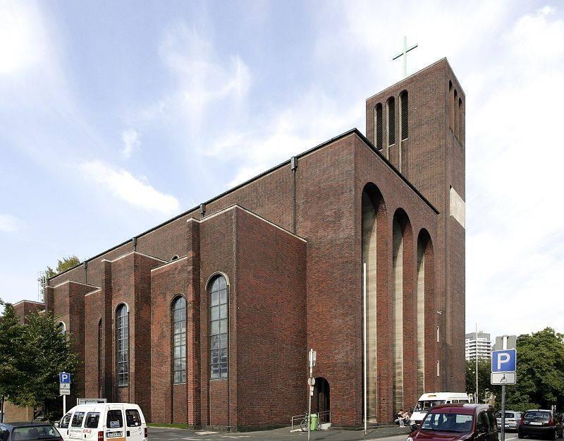 Church Mariae Geburt, Muelheim ad Ruhr, NRW, Germany built 1928 - wandbilder für küche