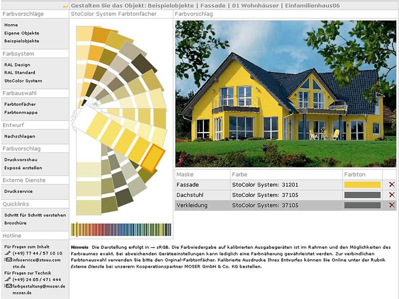 Internetbasierte Farbfindung Farbe zeigen - Kunden gewinnen - fassadenfarbe beispiele