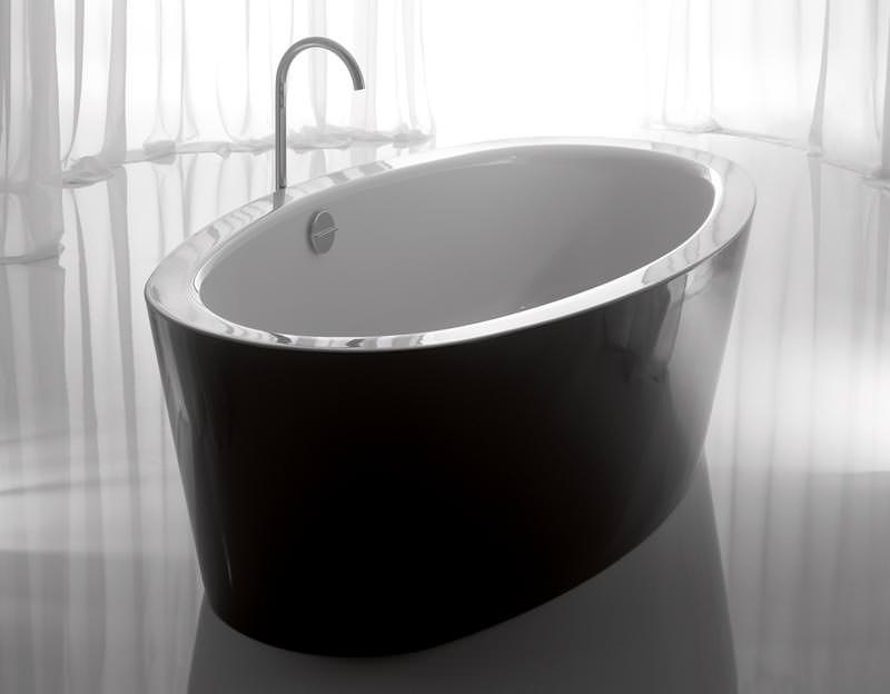 Freistehende Badewannen von Bette in schwarz