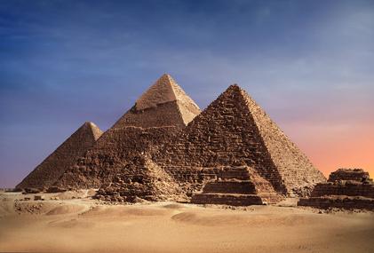 Natursteinmauerwerk an den Pyramiden von Gizeh