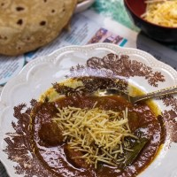 Traditional Parsi Salli Boti (Meat with Potato Sticks)