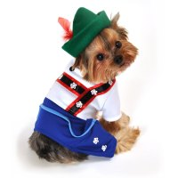 Bavarian Lederhosen Halloween Dog Costume - Blue   BaxterBoo