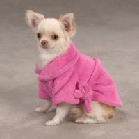 Casual Canine Cozy Dog Bathrobe - Pink | BaxterBoo